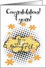 Go with your groovy Self, congratulations 4 years clean card