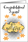 Go with your groovy Self, congratulations 5 years clean card