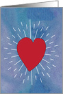 Heart Beats, Romantic Love Valentine's Day card