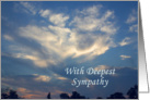 Sympathy Cloud Photo with deepest Sympathy card