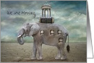We are moving Elephant House card
