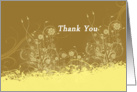 Modern Floral Thank You card