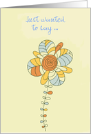 Birth Announcement, Gender Neutral, Floral print card