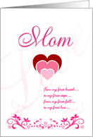 Valentine for Mom - Pink card