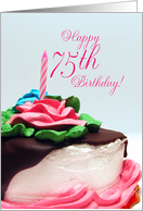 75th Birthday Cake card