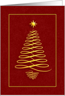 Christmas Tree - Red card