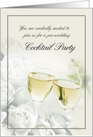 Cocktail Party Before Wedding Invitation card
