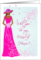 Be My Maid of Honor - African American card