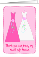Maid of Honor - Thank You Card
