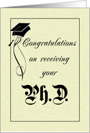 PhD Congratulations - Graduation card