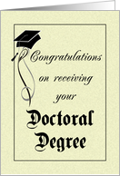 Graduation - Doctoral Degree card