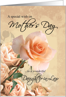 Happy Mother's Day, Daughter-in-Law - Vintage Rose card