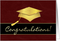 Graduation Congratulations - Garnet and Gold card