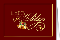 Happy Holidays - Elegant Holiday Card