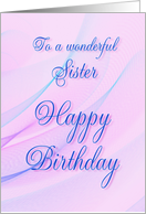 Birthday - Sister card
