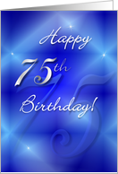 Birthday - 75 card