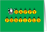 Happy Festivus With Ornaments card