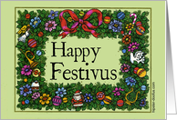Happy Festivus With Festive Border card