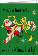 Retro-Style Christmas Party Invitation card