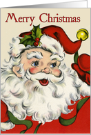 Retro-Style Santa Christmas Card