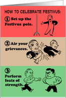 How To Celebrate Festivus card