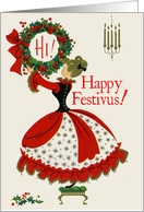 Vintage-Style Festivus Wishes card