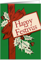 Vintage Package-Style Festivus Shopping Card