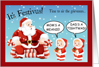 It's Time for Festivus Grievances! card