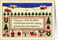 Traditional Festivus Card