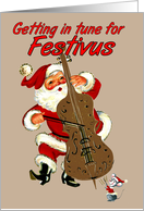Tuning Up For Festivus card
