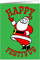 Festivus Wishes from Santa Claus card