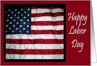 Happy Labor Day Card American Flag card