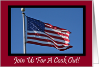 Patriotic Cook Out Invitation Blank Card