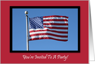 Patriotic Party Invitation Blank Card
