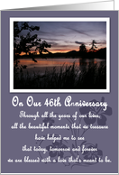 Sunset 46th Anniversary Card