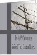 Brigantine Sails Columbus Day Card