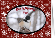 Chickadee Papa Christmas Card