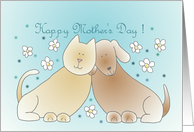 Cat and Dog Mother's Day card