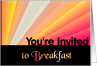 You're Invited to Breakfast card