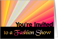 You're Invited to a Fashion Show card