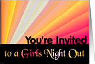 You're Invited to a Girls Night Out card