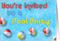 You're Invited to a Pool Party card