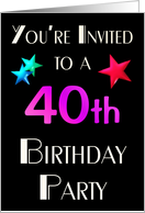 You're Invited to a 40th Birthday Party card