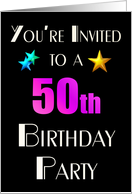You're Invited to a 50th Birthday Party card