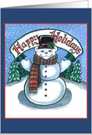 Holiday Snowman Invitation card