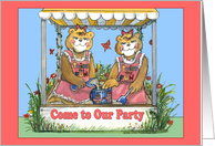 Twin Girls Birthday Invitation card