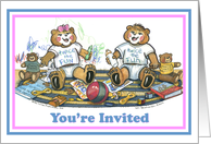 Invitation for Twins card