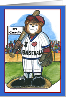 Baseball - #1 Coach card