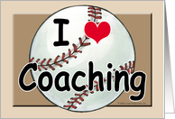 Baseball Coach Thank You card