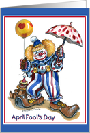 April Fool's Day Clown card